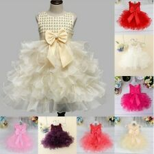 Flower Girl Princess Tutu Fancy Dress Baby Wedding Party Pageant Vintage Dresses