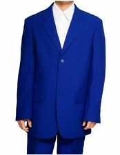 New Men's 3 Button Royal Blue Dress Suit - All Sizes