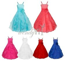 Flower Girl Princess Kid Bow Wedding Bridesmaid Party Pageant Junior Tulle Dress