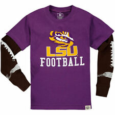 LSU Tigers Wes & Willy Preschool Football Fooler Long Sleeve T-Shirt - Purple