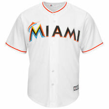 Miami Marlins Majestic Youth Official Cool Base Jersey - White - MLB