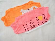 New Junior's Ozer Neon Layered Shirts in Orange or Pink - Size XS - NWOT