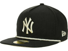 New York Yankees MLB Hall A Frame New Era Fitted Rope Flat Bill Black Hat Cap NY