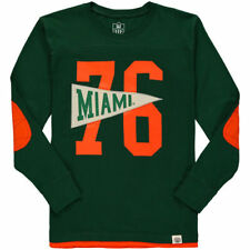 Miami Hurricanes Wes & Willy Youth Pennant Jersey Long Sleeve T-Shirt - NCAA
