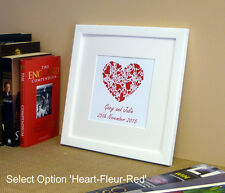 Personalised Special Occasion Heart Print – Choice of designs – Framed