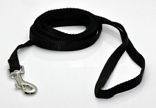 "NEW 6' Dog Nylon Leash Lead Black X-Small 3/8"" W"