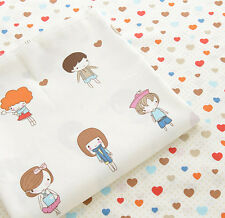 One PCS Cotton Fabric Pre-Cut Quilt cloth Fabric for Sewing Love Pattern