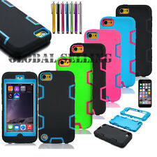 iPod Touch 4 5 6 th Gen -HARD & SOFT RUBBER HIGH IMPACT ARMOR CASE HYBRID COVER