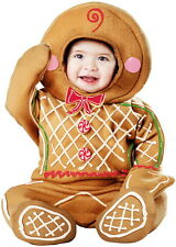 Holiday Cookies Gingerbread Man Toddler Jumpsuit Christmas Costume Infant Boys