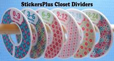 Closet Size Dividers Clothes Organizer Baby Toddler Girl Pink Blue Flower Dots