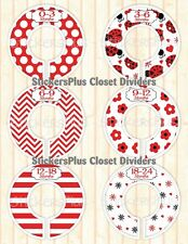 Closet Size Dividers Clothes Organizer Baby Toddler Girl Red Ladybug Flower Dots