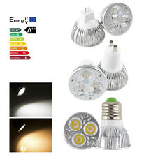 Dimmable GU10/E26/E27/MR16 LED Light Warm Cool White Spotlight 9W 3X3W Bulb Lamp