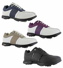 New Womens Hi-tec Milano Leather Waterproof Lace Golf Shoes Trainers Size 4-8 UK