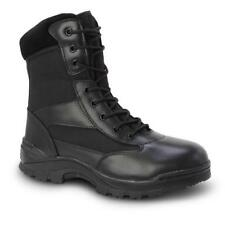 Bonanza Boots Military Action Commando Tactical Boots (Black Leather)