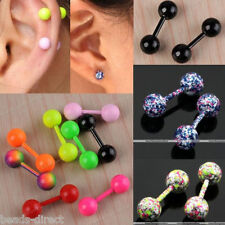 HOT Stainless Steel Barbell Ear Tragus Cartilage Helix Stud Bar Earring Piercing