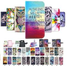 For Samsung Phone Multicolor Painted Leather Wallet Flip Card Holder Case Cover