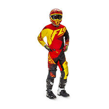 Fly Racing Motocross Pants + Jersey 2016 - Kinetic Vector - red-black-yellow