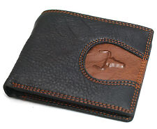 Leather Wallet For Mens Credit Card Holders Zippered Pocket ID Holder Purse