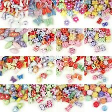 18 Styles Mixed Acrylic Plastic Beads Assorted DIY Jewelry Findings Wholesale
