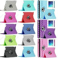 For iPad 2/3/4 iPad Mini 360 Rotating Polka Dot PU Leather Case Smart Cover
