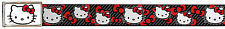 Hello Kitty Animated Character Red Bows & Stripes Web Belt