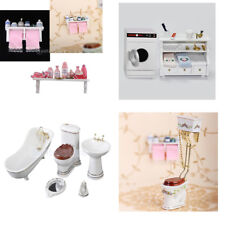 1:12 Scale Bathroom Shower Accessories Toiletries Doll House Miniature Furniture