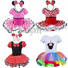 Christmas Minnie Mouse Girls Baby Costume Party Ballet Tutu Fancy Dress Headband