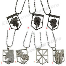 Attack on Titan Affiliation Corps & Wall Badge Metal Pendant Necklace