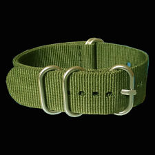 Solid Green 16mm 18mm 20mm 22mm 24mm Nylon Watch Strap Wristwatch Band For Hours