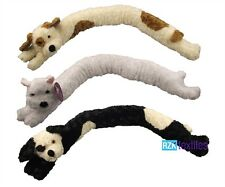 Dog Draught Excluder, Soft Plush Microfleece Draught Excluders