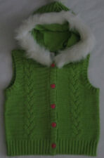 Gymboree Loveable Giraffe Sweater Vest 3 4 5 6 7 8 Green Hoodie Girls Winter NEW