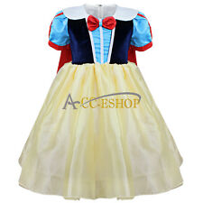 Kids Girls Snow White Princess Halloween Party Cosplay Costume Fancy Dress 2-8Y