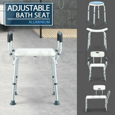 Adjustable Bath Shower Seat Chair Stool Bench Safety Shower Aid TGA Approved