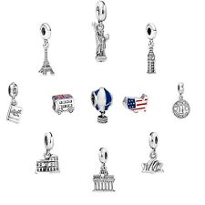 World Attraction European charm bead for silver sterling bracelet chain necklace