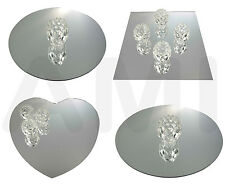 SQUARE, ROUND OR HEART MIRRORS WEDDING TABLE DECORATION CENTRE PIECE BEVELLED