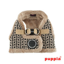 Choose Size - PUPPIA - DAMIER - Soft Dog Puppy Step In Harness Vest - Beige