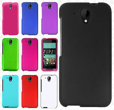 For HTC Desire 520 Rubberized HARD Protector Case Snap Phone Cover +Screen Guard