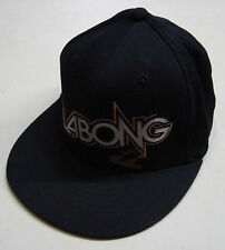 BILLABONG WAVE SIDE FLAT BRIM BLACK FLEXFIT HAT CAP BRAND NEW