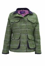 Hazy Blue Womens Hunting Waterproof Tweed Jacket Sandringham *FREE POST*