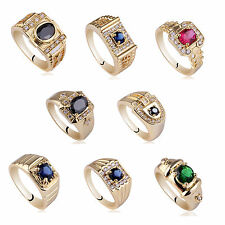 Wholesale 10pcs Assorted Lot Gold Plated 925 Sterling Silver Rings for Men