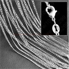 "1/5x Hot Wholesale lots 925 Sterling Silver 2MM Rolo Curb Chain Necklace 16""-30"""