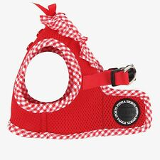 Any Size - PUPPIA - VIVIEN - Soft Dog Puppy Harness Vest - Red