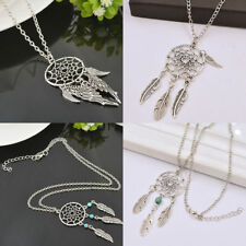 Retro Dream Catcher Pendant Long Chain Necklace Sweater Chain Jewelry BOHO