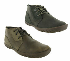New Mens Caterpillar Leroy Mid Leather Casual Ankle Chukka Boots Size 7-12 UK