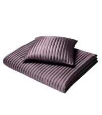 CL Home Quilted Taffeta Bedspread, Bed Runner, Cushions.Heather