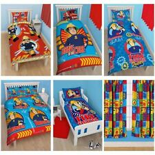 FIREMAN SAM BEDDING - SINGLE DOUBLE & JUNIOR DOONA COVER SETS BOYS BEDROOM