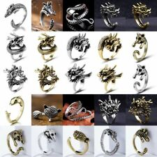 Cute Punk Retro Animal Ring Bronze Anti-Silver Cuff Wrap Open Finger Ring