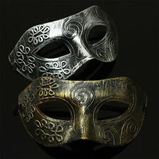 Antique Silver Gold Men Burnished Mystery Mardi Gras Masquerade Party Ball Mask