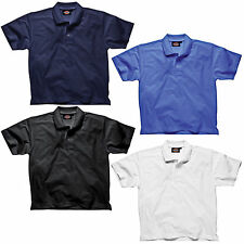 MENS DICKIES SHORT SLEEVE POLO SHIRT SIZE S - XXXL NAVY BLUE BLACK WHITE SH21220
