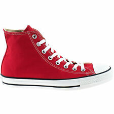 MENS LADIES CONVERSE ALL STAR RED HI TOPS CHUCK TAYLOR UNISEX CANVAS BOOTS M9621
